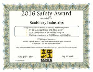 ECCS Certificate 2016